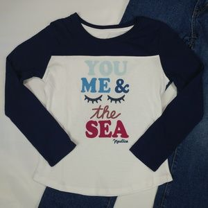 Girls Nautica Long Sleeve Graphic Top